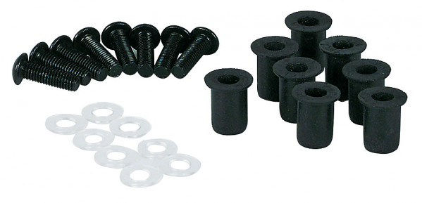 Alu-Verkleidungsschrauben mit M5 Gummimuttern für Verkleidungsscheiben